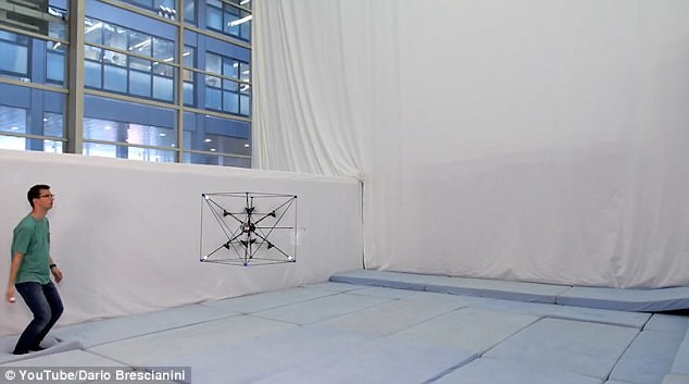 Omnicopter plays catch with a human with pinpoint accuracy