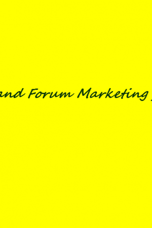 Signature and Forum Marketing for Bloggers