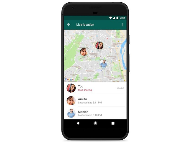 WhatsApp tricks location