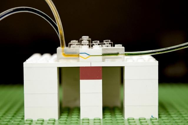 Microfluidics from LEGO Bricks