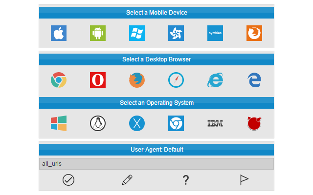 User Agent Switcher SEO Browser Extensions