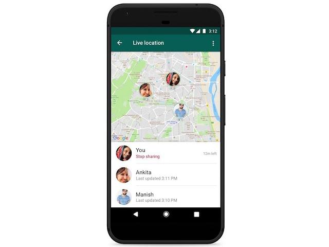 WhatsApp tricks location