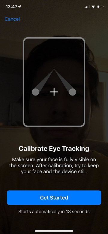 calibrate your eyes