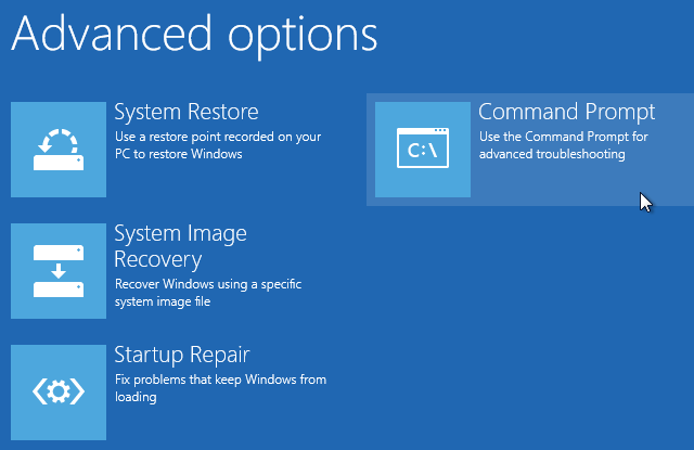 Factory Reset Windows 10 from Boot