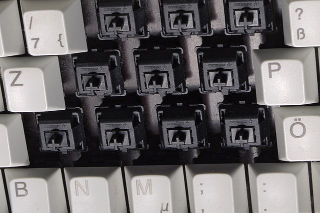 Mechanical Keyboard Switches Cross View