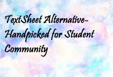 TextSheet Alternative- Handpicked for Student